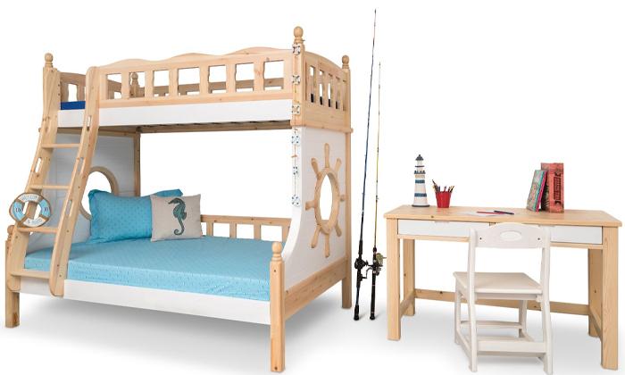 4 מיטת קומותיים בעיצוב ספינה Highwood
