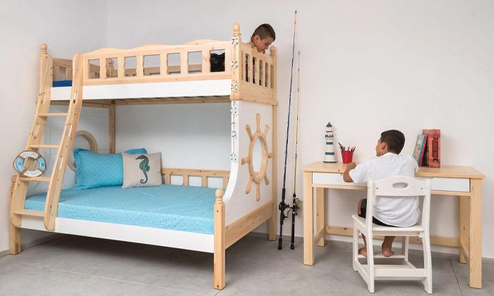 3 מיטת קומותיים בעיצוב ספינה Highwood