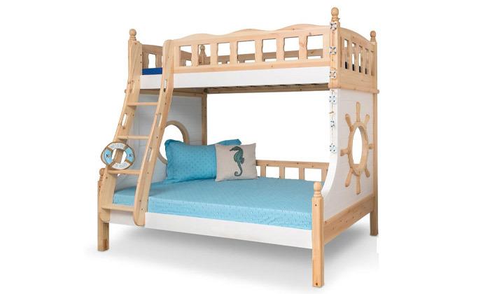 2 מיטת קומותיים בעיצוב ספינה Highwood