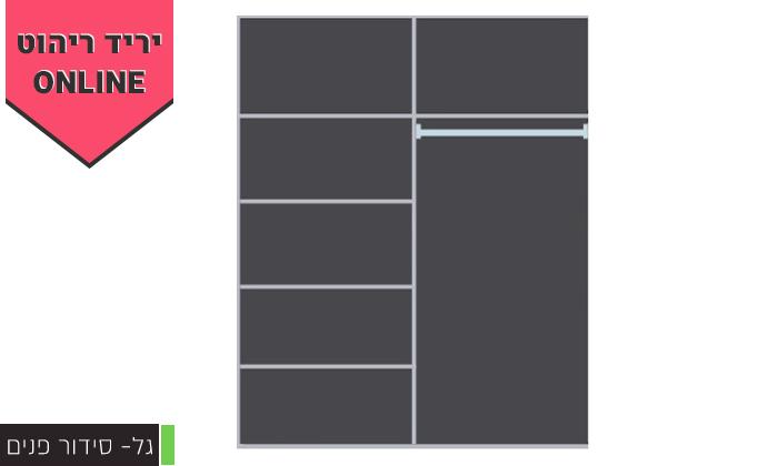 7 ארון הזזה 2 דלתותHouse Design - דגמים לבחירה