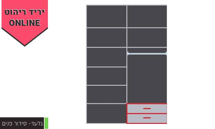 8 ארון הזזה 2 דלתותHouse Design - דגמים לבחירה