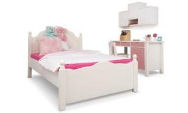 מיטה ברוחב וחצי מעץ מלא