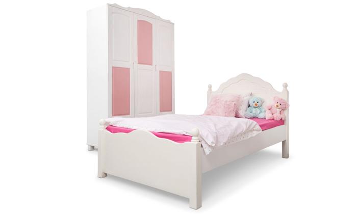 4 מיטה ברוחב וחצי מעץ מלאHighwood