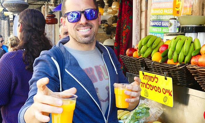 5 כרטיס טעימות בשווקים הססגוניים של ירושלים, עכו ותל אביב