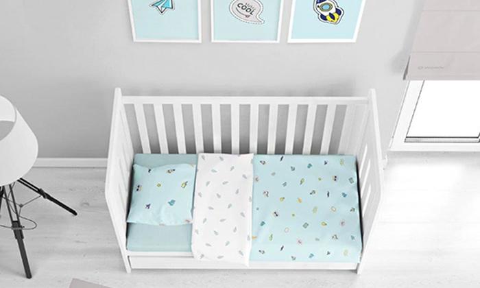 2 מצעי פלנל למיטת תינוק, ורדינון