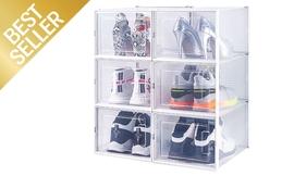 שש קופסאות אחסון לנעליים