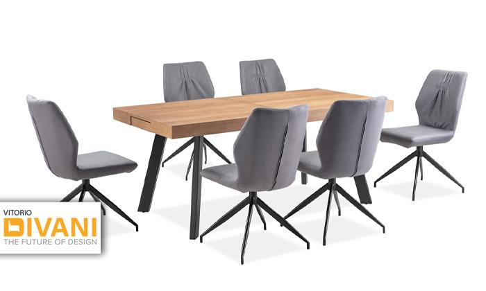 2 פינת אוכל נפתחת עם כיסאות ויטוריו דיוואני Vitorio Divani