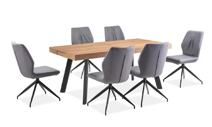 7 פינת אוכל נפתחת עם כיסאות ויטוריו דיוואני Vitorio Divani