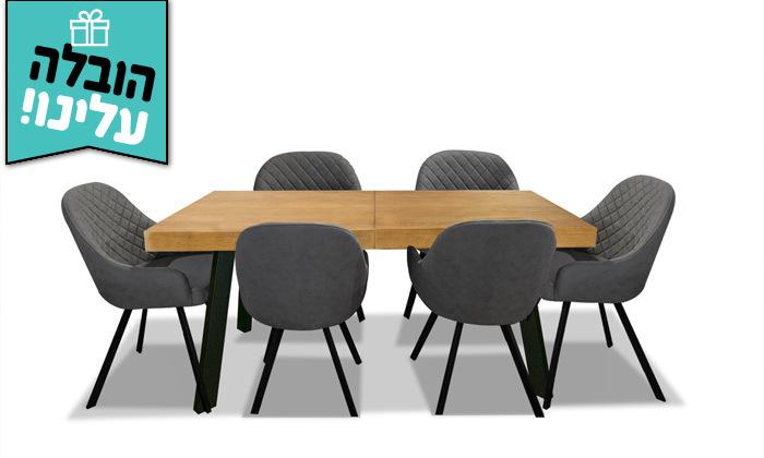 7 פינת אוכל נפתחת עם כיסאות ויטוריו דיוואני Vitorio Divani - משלוח חינם
