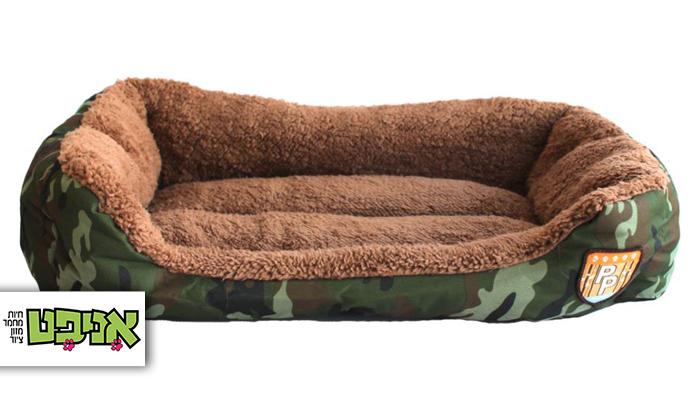 2 מיטה בעיצוב צבאי לכלב ולחתול