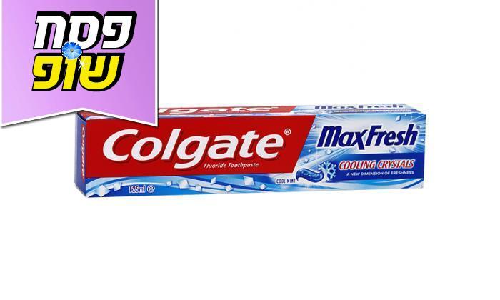 3 6 יחידות משחת שיניים Colgate קולגייט מקס פרש כחול- משלוח חינם