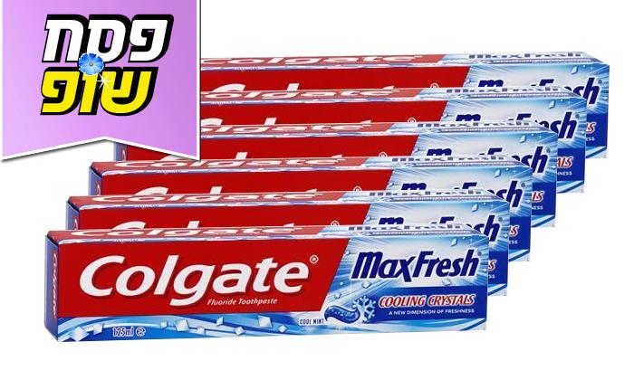 2 6 יחידות משחת שיניים Colgate קולגייט מקס פרש כחול- משלוח חינם