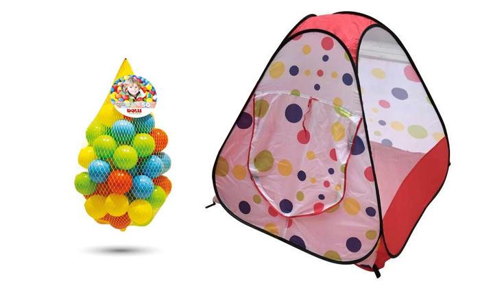 2 אוהל צבעוני לילדים