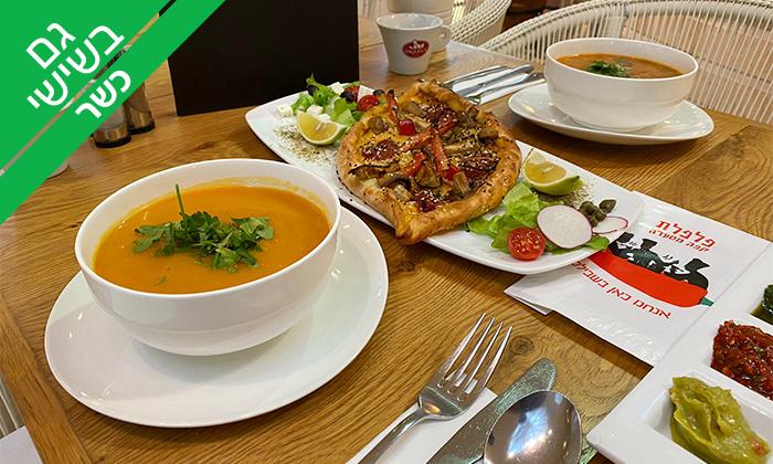 3 ארוחת מרק לזוג בקפה פלפלת - כשר, חיפה