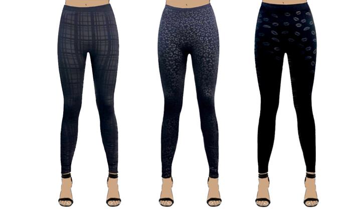 2 3 מכנסי טייץ תרמיים לנשים WOW