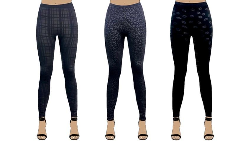 3 מכנסי טייץ תרמיים לנשים WOW