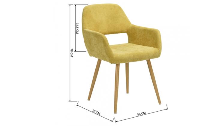15 כיסא פינת אוכל Homax דגם פאוול
