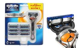 ידית ו-7 סכיני גילוח Gillette