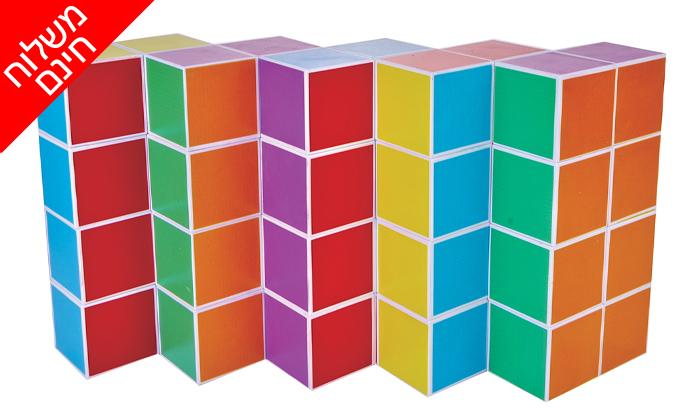 3 משחק קוביות מגנטיות - משלוח חינם