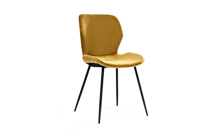 3 כיסא אוכל בריפוד קטיפה