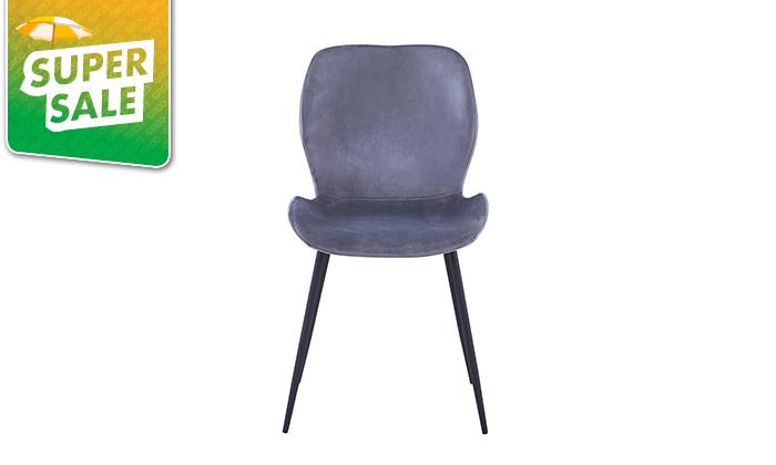 5 כיסא אוכל בריפוד קטיפה