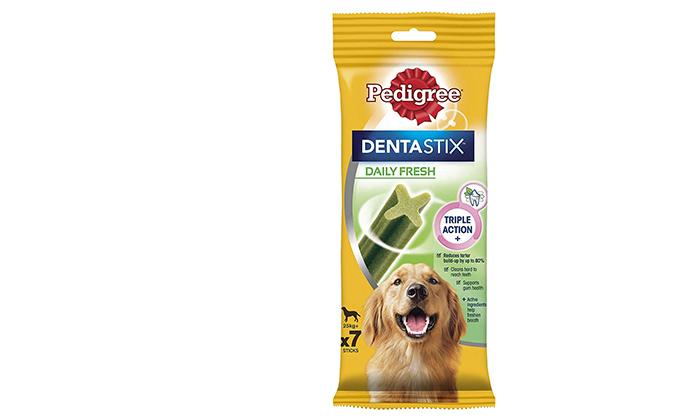 3 10/20 אריזות חטיפים דנטליים לכלבים Pedigree DENTASTIX