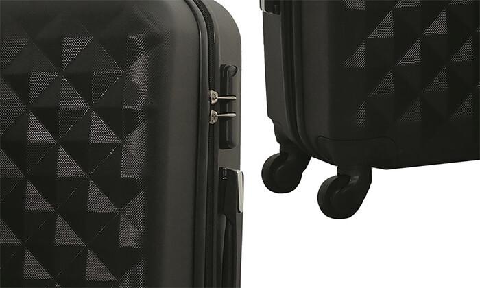 5 סט 3 מזוודות טרולי קשיחות