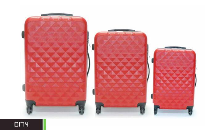 7 סט 3 מזוודות טרולי קשיחות