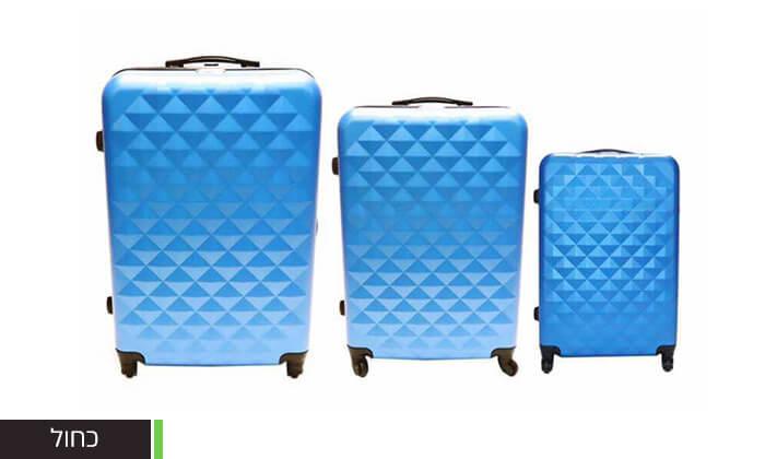 12 סט 3 מזוודות טרולי קשיחות
