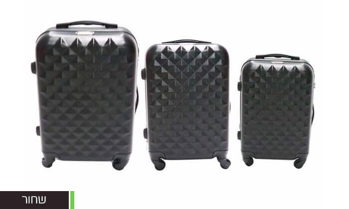 3 סט 3 מזוודות טרולי קשיחות