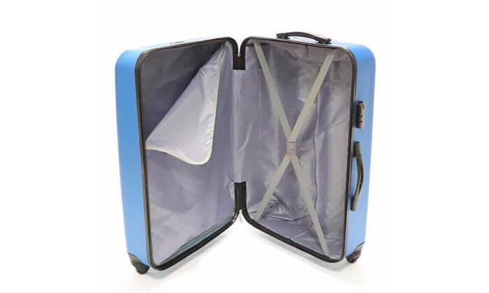 13 סט 3 מזוודות טרולי קשיחות
