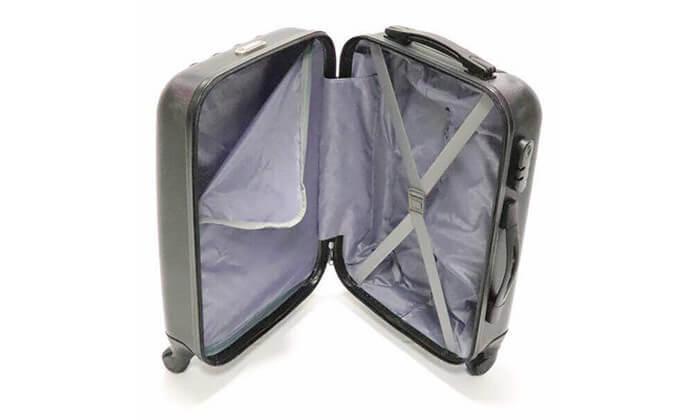 6 סט 3 מזוודות טרולי קשיחות
