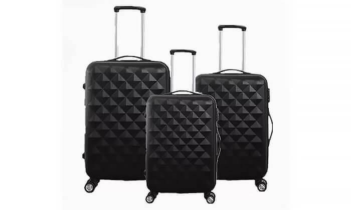 2 סט 3 מזוודות טרולי קשיחות