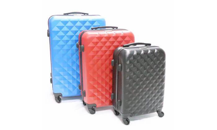 15 סט 3 מזוודות טרולי קשיחות