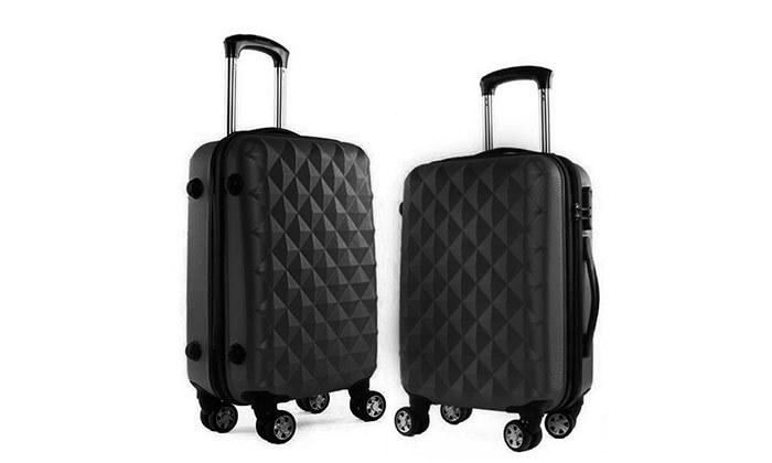 16 סט 3 מזוודות טרולי קשיחות