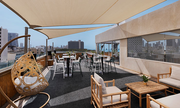 5 ארוחת בוקר ב-Ciela Rooftop Lounge מלון אלכסנדר, תל אביב