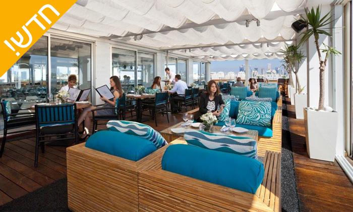 4 ארוחת בוקר בופה ב- Ciela Rooftop Lounge מלון אלכסנדר, תל אביב