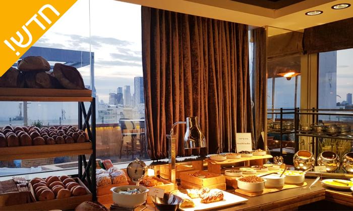 8 ארוחת בוקר בופה ב- Ciela Rooftop Lounge מלון אלכסנדר, תל אביב