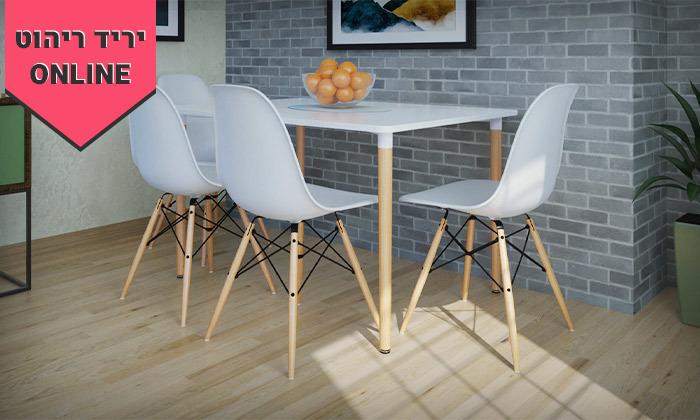 3 פינת אוכל עם 4 כיסאות דגם בראגה