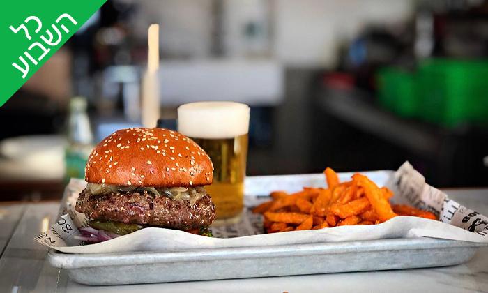 2 ארוחת המבורגר במסעדת מוריה 105, חיפה