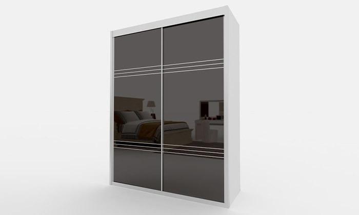 8 ארון הזזה דלתות זכוכית עם טריקה שקטה