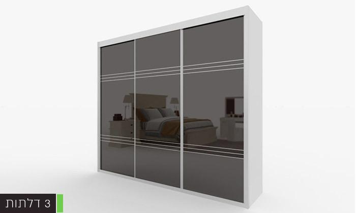 6 ארון הזזה דלתות זכוכית עם טריקה שקטה