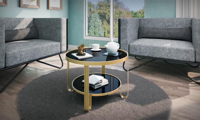 4 שולחן עגול לסלון