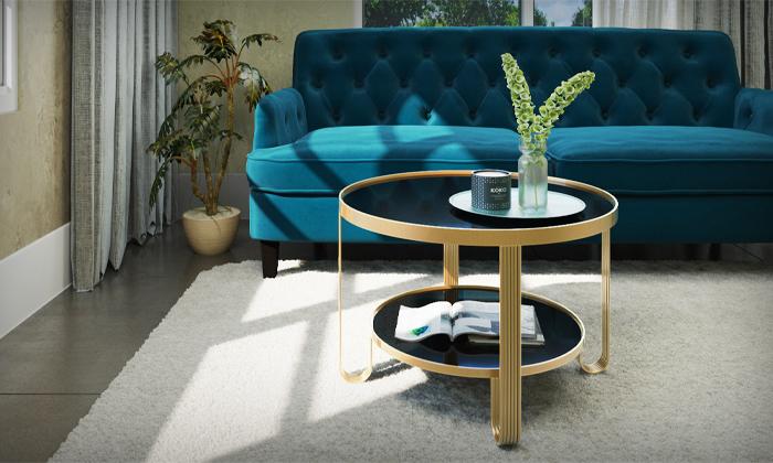 2 שולחן עגול לסלון