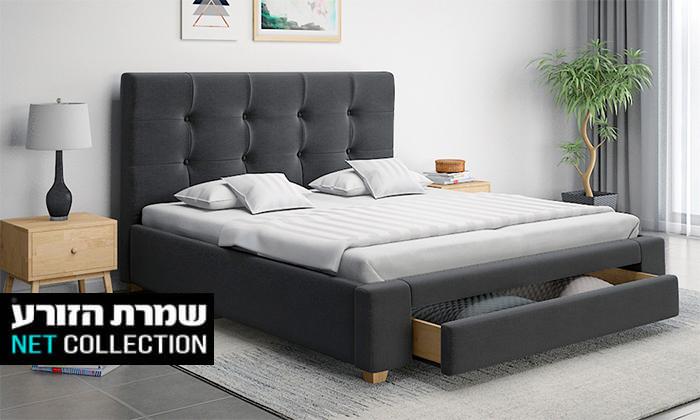 2 שמרת הזורע: מיטה זוגית עם מגירת אחסון