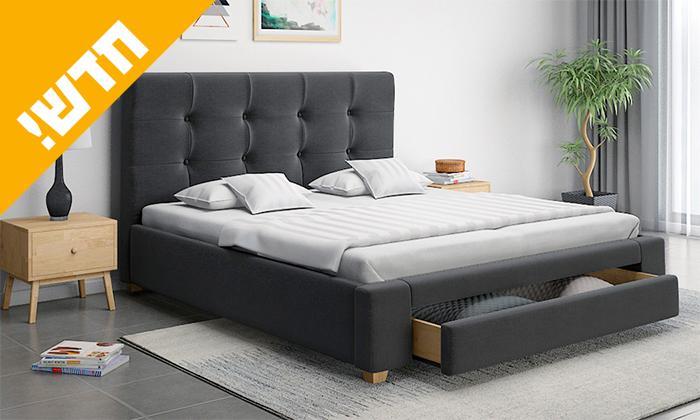 7 שמרת הזורע: מיטה זוגית עם מגירת אחסון