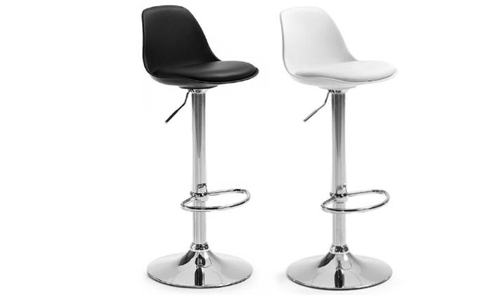 2 כיסא בר במבחר צבעים