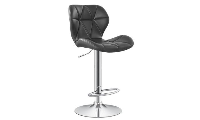 4 כיסא בר בריפוד דמוי עור