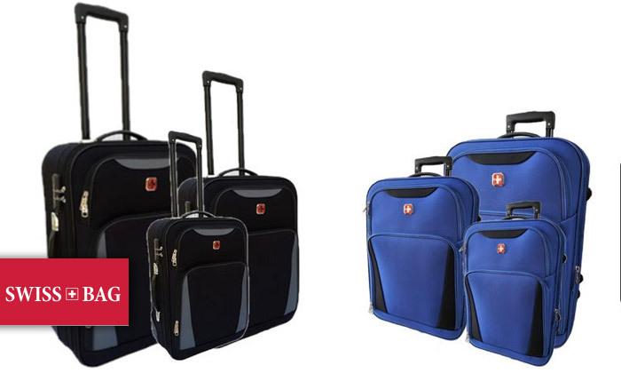 2 מזוודות SWISS קלות במיוחד - גדלים וצבעים לבחירה
