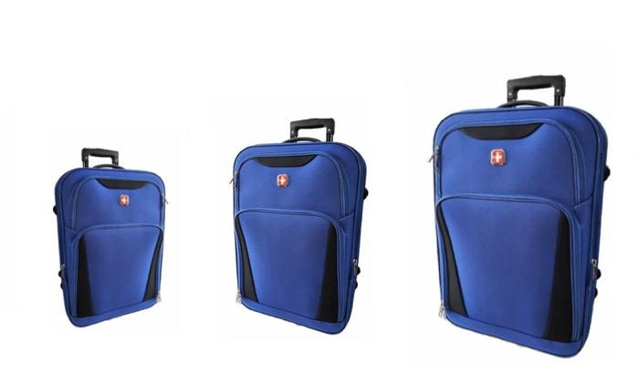 6 מזוודות SWISS קלות במיוחד - גדלים וצבעים לבחירה